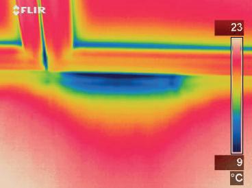 Netesna mesta prikaže tudi termografska kamera